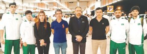 Pakistan's taekwondo squad reaches Jordan to compete in Olympic Qualifiers