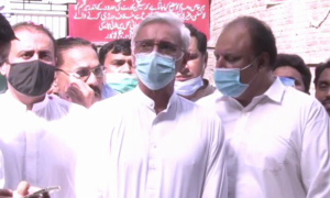 Tareen denies reports of meeting high-ranking govt official in Islamabad