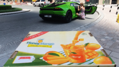 For just 150 Dirhams, Dubai residents can get Pakistani mangoes delivered in a Lamborghini