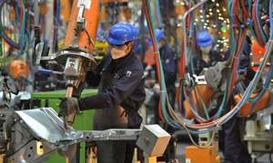 Large-scale manufacturing expands by 68pc in April