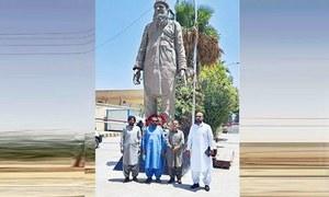 کوئٹہ میں عبدالستار ایدھی کا مجسمہ نصب