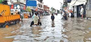 Faulty drainage system causes urban flooding