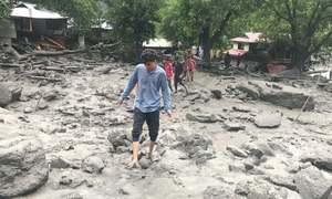 وادی نیلم میں 'کلاؤڈ برسٹ' سے 30 مکانات تباہ، میاں، بیوی لاپتا