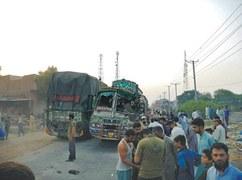 Three bus passengers killed, two dozen injured in accident