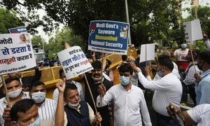 Uproar in India's parliament over spying scandal