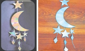 Wonder Craft: Moon and star wind chime