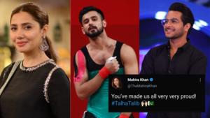 'You won our hearts': Mahira Khan, Azfar Rehman and other stars celebrate weightlifter Talha Talib