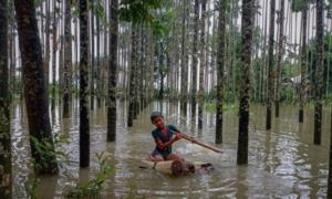 بنگلہ دیش: سیلاب سے 20 افراد ہلاک، 3 لاکھ افراد پھنس گئے
