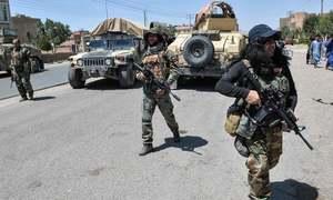 Families flee as Afghan army defends besieged Lashkar Gah city from Taliban