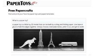 Website review: Let's make paper toys!