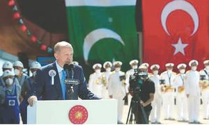 Warship for Pakistan Navy launched in Istanbul