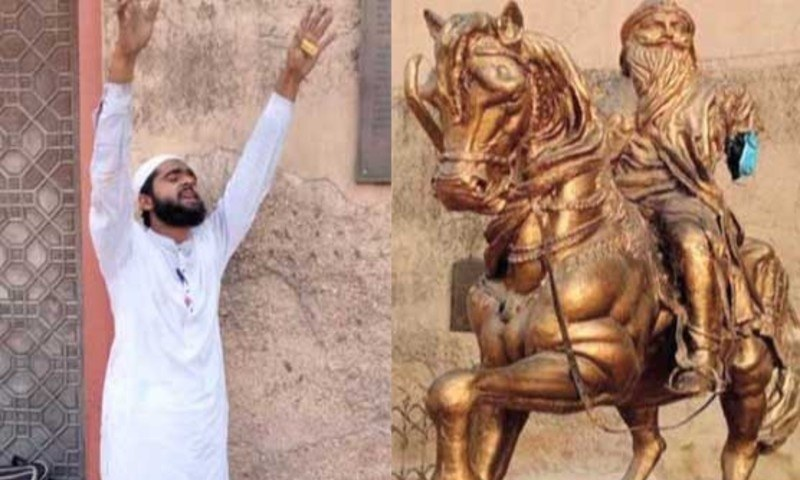 لاہور: رنجیت سنگھ کا مجسمہ توڑنے والا ملزم گرفتار