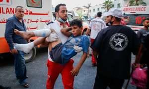 Israel strikes Gaza after dozens injured in border clashes
