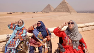 For three women in wheelchairs, their first solo trip to Egypt was the journey of a lifetime