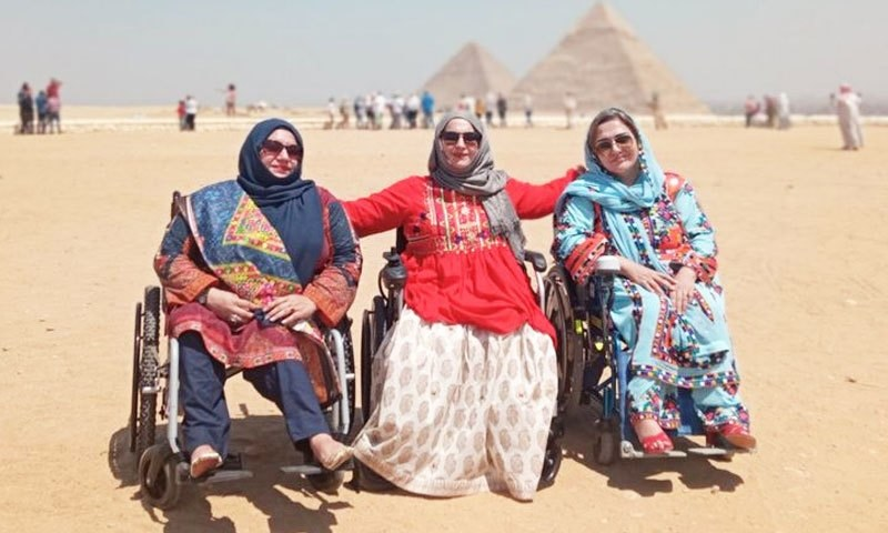 تین معذور پاکستانی خواتین کی تن تنہا اہرام مصر تک پہنچنے کی داستان