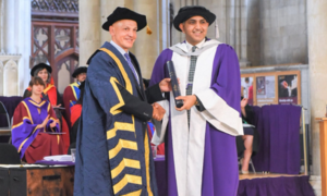 Founder and CEO Roots Millennium Education group conferred honorary doctorate by UK's University of Hertfordshire