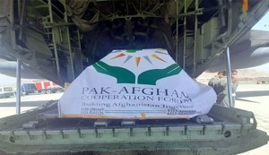 PAF aircraft brings relief goods to Kabul