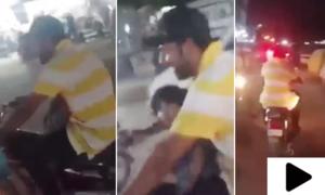 سرفراز احمد کی کراچی کی سڑک پر موٹر سائیکل چلانے کی ویڈیو وائرل