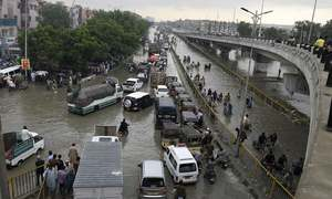 Flooding hits many Karachi areas after light to moderate showers