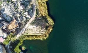 جربہ ژھو: موسم کے ساتھ گرگٹ کی طرح رنگ بدلتی جھیل