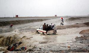 طوفان 'شاہین': بلوچستان کے مختلف اضلاع میں اربن فلڈنگ کا خدشہ