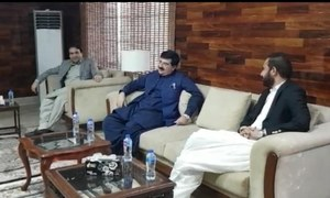 Sanjrani meets Balochistan Assembly speaker in Quetta amid reports of fissures within BAP