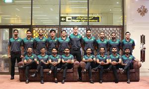 ٹی 20 ورلڈ کپ میں شرکت کیلئے پاکستانی ٹیم متحدہ عرب امارات پہنچ گئی