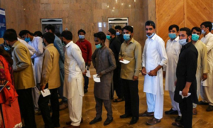 84pc eligible population partially vaccinated  in Islamabad