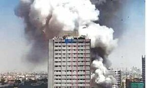 Four cars gutted in fireworks warehouse blaze in Karachi