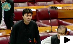 مراد سعید کی تقریر کے دوران اپوزیشن ارکان کا احتجاج