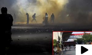 کالعدم تنظیم کے کارکنوں کے پتھراؤ سے 2 پولیس اہلکار شہید