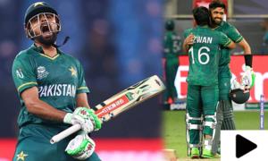 پاکستان بمقابلہ بھارت: قومی ٹیم کی جیت کے مناظر، تماشائیوں کا جوش