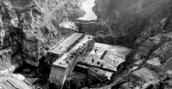 زیرِ تعمیر کشن گنگا ڈیم ۔ فائل تصویر