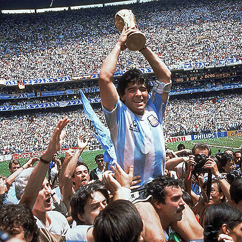 When Maradona sought his mother's help against Germany