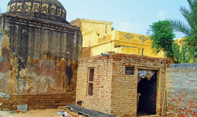 Chakwal: Hindu temple, now a goat pen